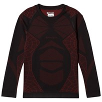 Spyder Black Colour Block Boys Racer L/S Top 001 BLK/RED