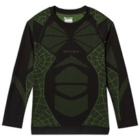 Spyder Black and Green Boys Racer L/S Top 019 BLK/FSH