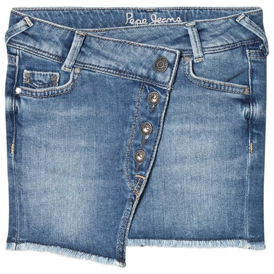 Pepe Jeans Blue Alice Raw Hem Denim Skirt 000