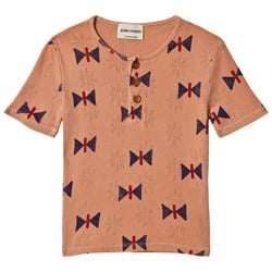 Bobo Choses Butterfly Buttons T-Shirt Muted Clay