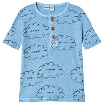 Bobo Choses Clouds Buttons T-Shirt Heritage Blue Heritage Blue