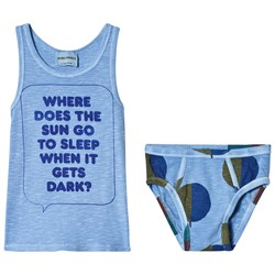 Bobo Choses Where Tank and Briefs Set Heritage Blue