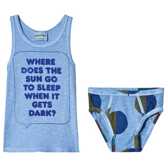 Bobo Choses Where Tank and Briefs Set Heritage Blue Heritage Blue