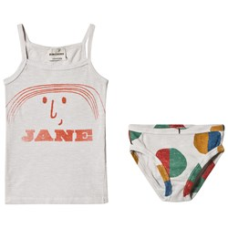 Bobo Choses Little Jane Tank and Briefs Set Raindrops
