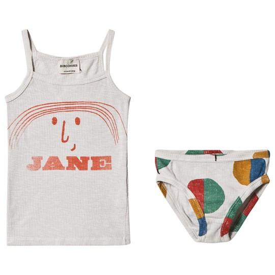 Bobo Choses Little Jane Tank and Briefs Set Raindrops Raindrops
