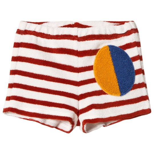 Bobo Choses Stripes Terry Shorts Buttercream Buttercream