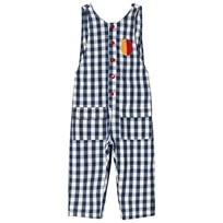 Bobo Choses Vichy Baggy Jumpsuit Turkish Sea Turkish Sea