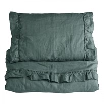 NG Baby Mood Ruffles Junior Duvet Set Petrol Green Petrol green