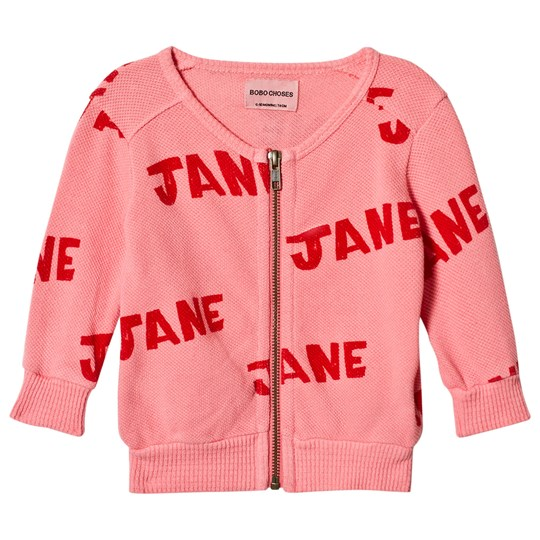 Bobo Choses Jane Zipped Sweatshirt Strawberry Ice Strawberry Ice