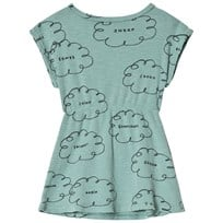 Bobo Choses Clouds Shaped Dress Beryl Green Beryl Green