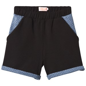 Image of BANGBANG Copenhagen Black and Blue Quilted Shorts 1-2 years (2922476825)