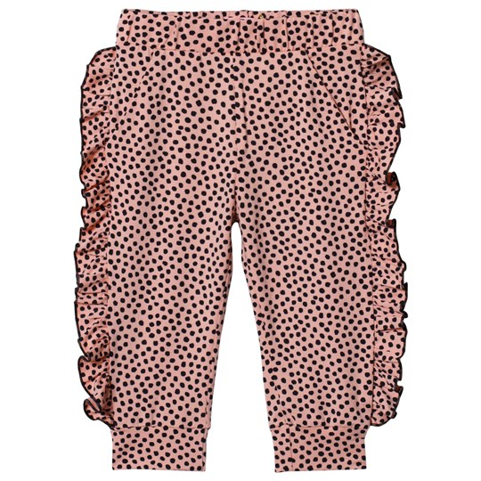 BANGBANG Copenhagen Pink and Black Spot Aya Leggings Pink and Black
