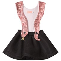 BANG BANG Copenhagen Pink and Black Snake Girl Dress Black