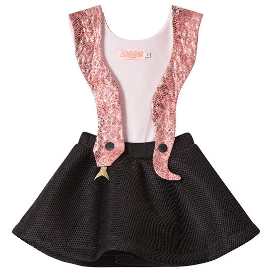 Wauw Capow Pink and Black Snake Girl Dress Black