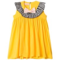 BANG BANG Copenhagen Yellow Frill Neck and Bow Pretty Pretty Dress Yellow