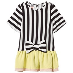Wauw Capow White and Black Stripe Alice Tunic with Bow Detail