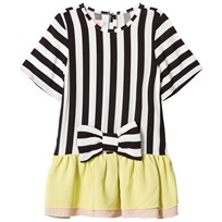 BANG BANG Copenhagen White and Black Stripe Alice Tunic with Bow Detail White and Black