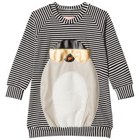 BANG BANG Copenhagen Black and White Penny Cool Penguin Sweat Dress Black and White