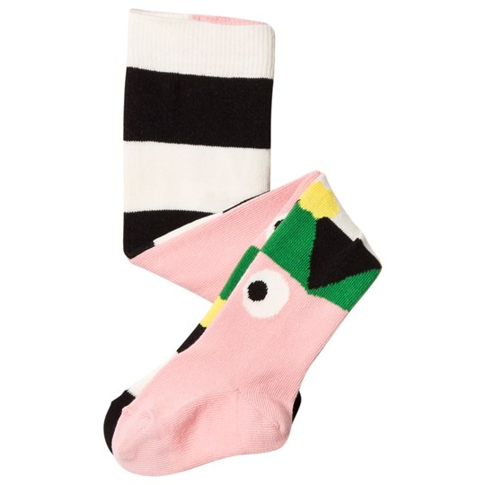 Wauw Capow Pink Stripe Lets Party Tights PINK AND MULTI