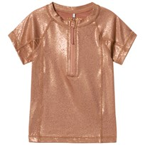 MarMar Copenhagen Swinston UV Swim Top Gold Gold
