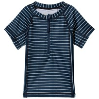 MarMar Copenhagen Swinston UV Swim Top Stripe Oceanic Blue Stripe Oceanic Blue