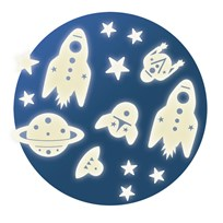 Djeco Mission Space Glow in the Dark Ceiling Stickers Blue