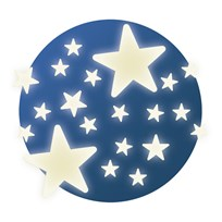 Djeco Stars Glow in the Dark Ceiling Stickers Blue