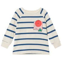 Bobo Choses Breton Stripes 3/4 Sleeve T-Shirt Buttercream Buttercream
