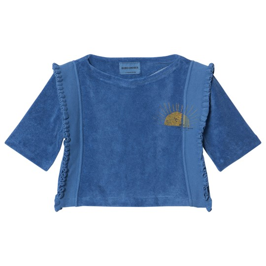 Bobo Choses Sun Ruffles T-Shirt Turkish Sea Turkish Sea