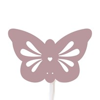 Roommate Silhouette Butterfly Pink