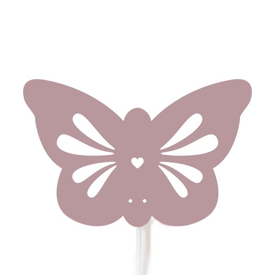 Roommate Silhouette Butterfly Wall Lamp Pink