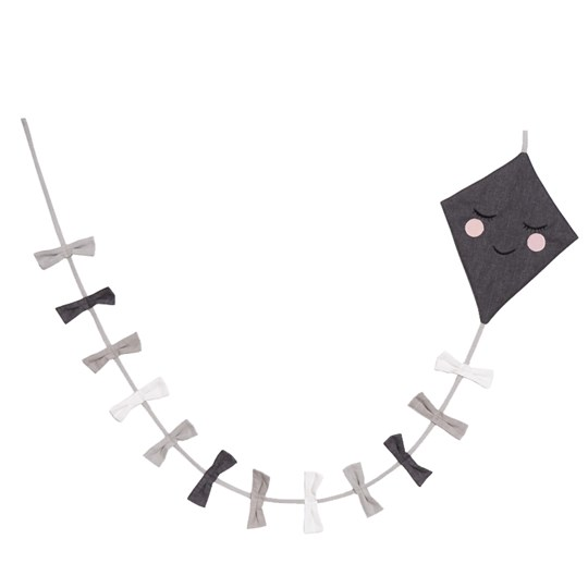 Roommate Kite Garland Black/White Multi Multi