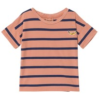 Bobo Choses Breton Stripes Short Sleeve T-Shirt Lobster Bisque Buttercream