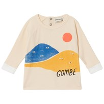 Bobo Choses Mountains Long Sleeve T-Shirt Buttercream Buttercream