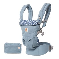 Ergobaby Omni 360 Baby Carrier All-In-One Blue Daisies Blå blom