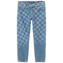 Tommy Hilfiger Blue Indigo Steve Slim Fit Checker Board Jeans 911