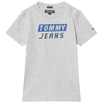Tommy Hilfiger Heather Bold Logo Tee Grey 061