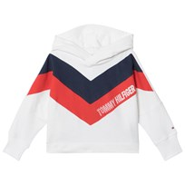 Tommy Hilfiger White Alert Colourblock Branded Hoodie 123