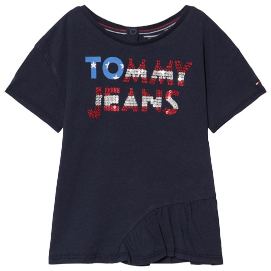 Tommy Hilfiger Sequind Logo T-Shirt Navy 002