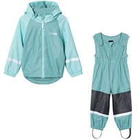 Kuling Outdoor Lined Rain Set Nile Blue Green