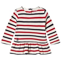 Ralph Lauren Red and Cream Stripe Polo with PP Clubhouse Cream/ Hunter Navy