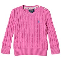 Ralph Lauren Cable-Knit Cotton Sweater Hammond Pink 001
