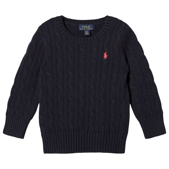Ralph Lauren Navy Cotton Cable Jumper 005