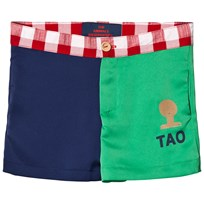 The Animals Observatory Bee Shorts Blue/Green Tao Bus BLUE + GREEN TAO BUST