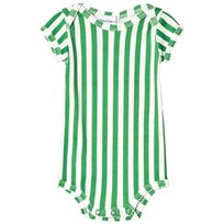 Wolf & Rita Diogo Randig Baby Body Grön green stripes