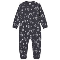 Scamp & Dude Grey Slogan Print Baby Grow Slate Grey