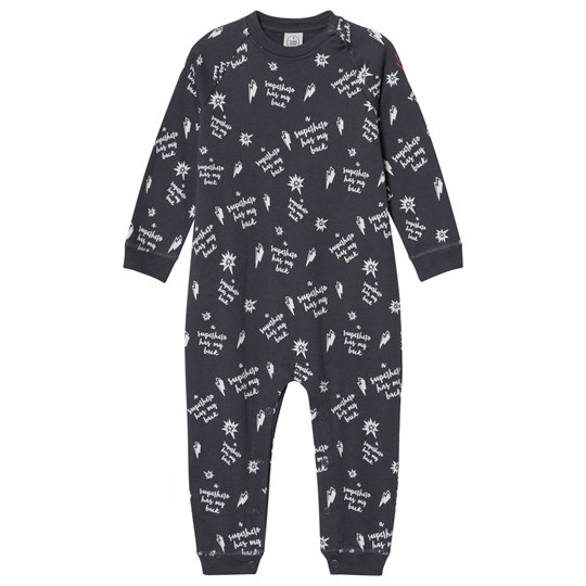 Scamp & Dude Slate Grey Slogan Print One-Piece Slate Grey