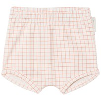 Tinycottons Grid Bloomers Off-White/Carmine off-white/carmine