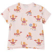 Tinycottons Octopus T-shirt Light Pink/Cerulean Blue/Light Brick light pink/cerulean blue/light brick