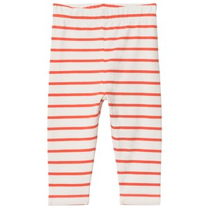 Image of Tinycottons Small Stripes Pant Off-White/Carmine 6-12 mdr (2928431203)